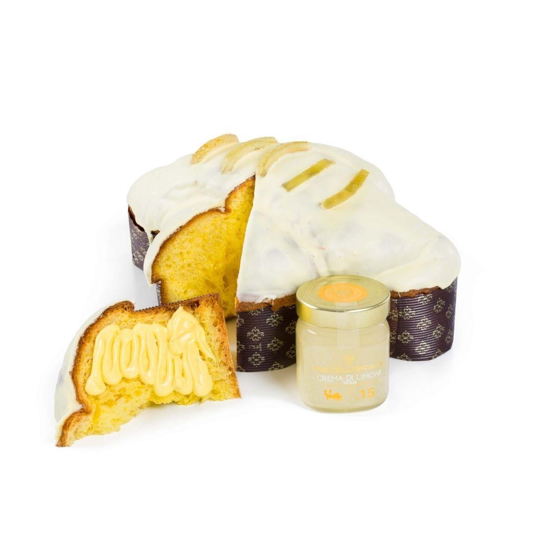 cofanetto colomba crema limone