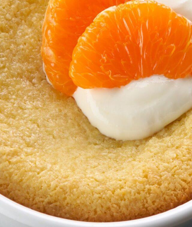 tortino mandarino e cioccolato bianco